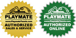 Playmate tennis AUTHORIZED ONLINE LOGO and AUTHORIZED SALES & SERVICE LOGO