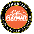 Playmate tennis AUTHORIZED SALES & SERVICE LOGO